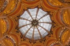 Koepel van Galeries Lafayette, Parijs, Frankrijk stock fotografie
