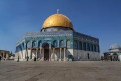 Koepel van het Rotsheiligdom, Jeruzalem, Israël royalty-vrije stock foto's