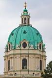 Koepel van Karlskirche (St. Charles Kerk) Stock Fotografie