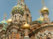 Koepel van Kerk van de Verlosser op Bloed Heilige-Petersburg Rusland Stock Afbeeldingen