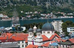Koepel van kerk van Sinterklaas montenegro Kotor stock afbeelding