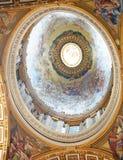 Koepel van koepel-Rome van binnen-St Peter Stock Afbeeldingen