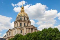 Koepel van Les Invalides Parijs, Frankrijk Stock Foto