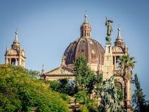 Koepel van Porto Alegre Cathedral royalty-vrije stock afbeelding
