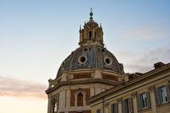 Koepel van Santa Maria di Loreto Church Royalty-vrije Stock Foto