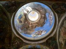 Koepelfresko's van Duomo Vecchio Rotonda in Brescia royalty-vrije stock foto