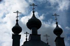 Koepelkerk op een blauwe hemel Royalty-vrije Stock Afbeeldingen