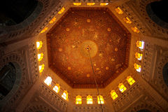 Koepels (binnen een deel) van een oude moskee van Alexandrië stock afbeelding