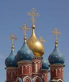 Koepels in Oud Moskou Stock Afbeeldingen