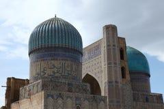 Koepels in Samarkand, Oezbekistan Royalty-vrije Stock Foto