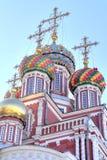 Koepels van de Geboorte van Christuskerk Stock Foto's