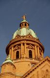 Koepels van de Kerk van Christus in Mannheim, Duitsland Royalty-vrije Stock Foto