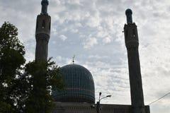 Koepels van de oude moskee in Rusland Stock Afbeelding