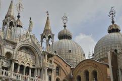 Koepels van Heilige Mark Basilica Royalty-vrije Stock Foto's