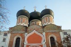 Koepels van Interventiekathedraal, Izmaylovo-Landgoed, Moskou, Russi Royalty-vrije Stock Fotografie