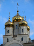 Koepels van Kathedraal in de namen van alle heiligen Stock Foto's