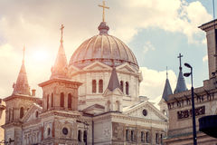 Koepels van Orthodoxe Kerk Royalty-vrije Stock Foto's