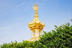 Koepels van Peterhof Royalty-vrije Stock Fotografie