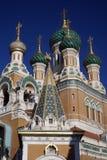 Koepels van Russische Orthodoxe Kerk Royalty-vrije Stock Foto's
