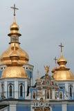 Koepels van St Michael gouden-Overkoepeld Klooster, Kyiv, het UK Royalty-vrije Stock Afbeeldingen