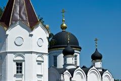 Koepels van St. Tikhon Klooster in Zadonsk Stock Foto's