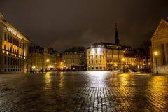 Koepelvierkant in centrum van Oud Riga Royalty-vrije Stock Afbeelding