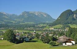Koessen Tirol, Österrike Arkivbild