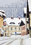 Koetschach-Mauthen Austrian village on winter time with snowsto Stock Photos