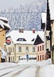 Koetschach-Mauthen Austrian village on winter time with snowsto Stock Photos