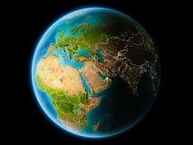 Koeweit in de avond Royalty-vrije Stock Afbeelding