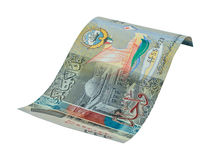 1 Koeweits dinarbankbiljet Stock Afbeelding