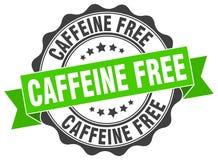 kofeina uwalnia fokę znaczek ilustracja wektor