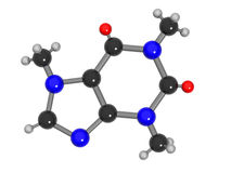 kofeiny molekuła royalty ilustracja