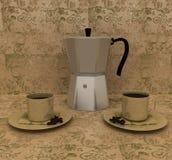 kofem итальянки завтрака Стоковые Фото
