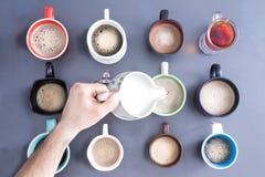Koffein för massfolkbegrepp Arkivfoto