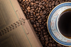 Koffeinanmerkungen Stockbild