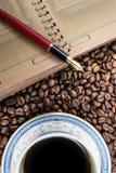 Koffeinanmerkungen Stockbilder