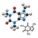 Koffeinmolekyl Royaltyfri Illustrationer