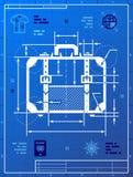 Koffer als blauwdruktekening Royalty-vrije Stock Foto