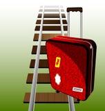 Koffer auf den Schienen Lizenzfreie Stockbilder