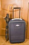 Koffer en paraplu. Royalty-vrije Stock Foto