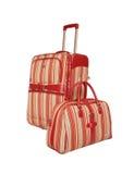 Koffer en zak. Stock Foto