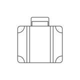 Koffer für Reise in einer linearen Art Lizenzfreies Stockfoto