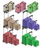Koffer, großer Polycarbonatskoffer Lizenzfreies Stockfoto