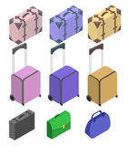 Koffer, großer Polycarbonatskoffer Stockfoto