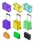 Koffer, grote polycarbonaatkoffer Royalty-vrije Stock Afbeeldingen