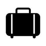 Koffer lokalisiertes Ikonendesign Lizenzfreies Stockbild