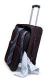 Koffer met dingen Stock Foto's