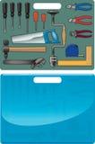 Koffer met hulpmiddelen Royalty-vrije Stock Foto's