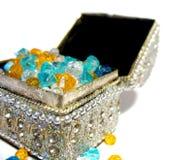 Koffer met juwelen Stock Foto